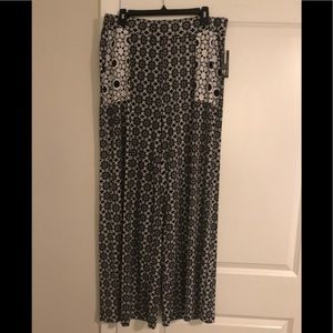 Palazzo Pants By New Directions, Black/Wh Size L
